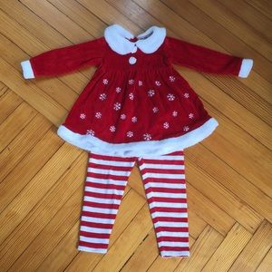 Two Piece Red & White Holiday Set 3T